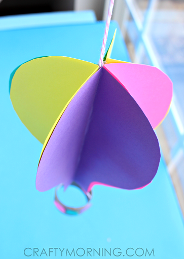 Spinning 3d Hot Air Balloon Craft For Kids To Make Crafty Morning