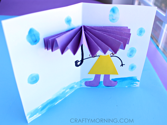 3D-umbrella-spring-craft-card-for-kids