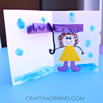 3D Umbrella Rainy Day Card for Kids to Make