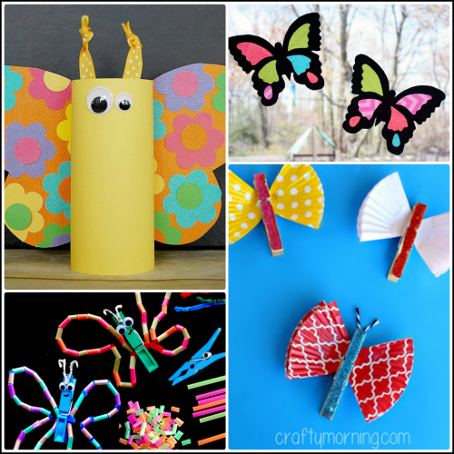 Beautiful butterfly crafts for kids to make crafty morning for Butterfly art and craft