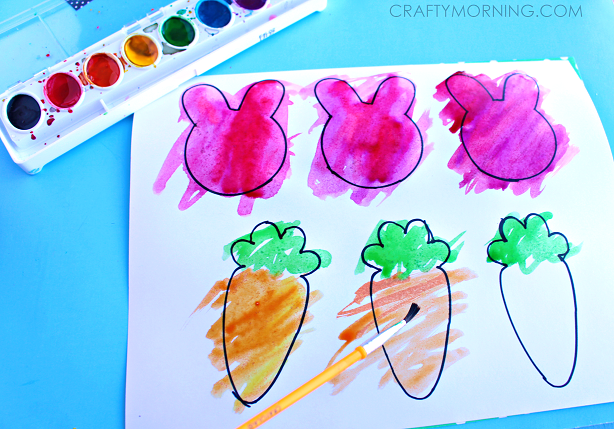 EASTER-BUNNY-WATERCOLOR-GARLAND-KIDS-CRAFT-