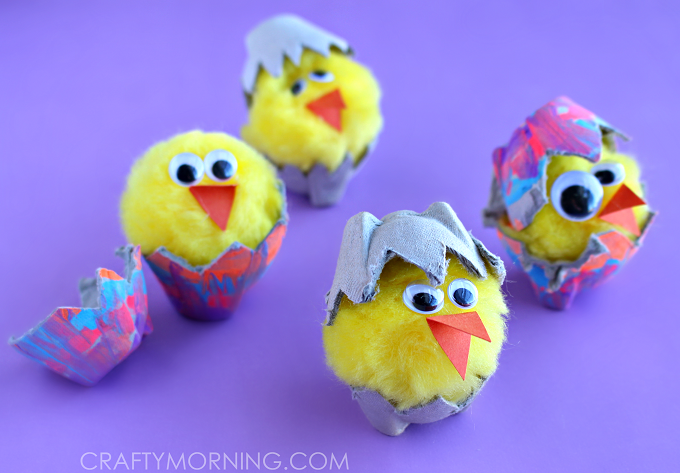 EGG-CARTON-HATCHING-CHICKS-KIDS-CRAFT-
