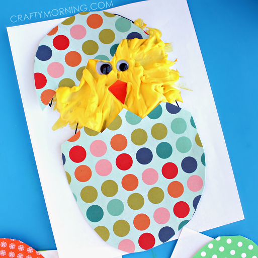 PUFFY-PAINT-CHICK-EASTER-CRAFT-FOR-KIDS