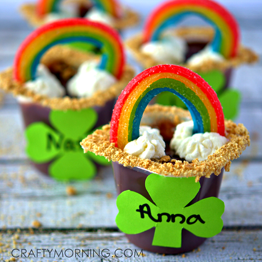 st patricks day crafts - did kid thumbprints on flower pots, added plant and a good quote - super fun and inexpensive gift of luck! Find this Pin and more on St. Patrick's Day Crafts and Snacks for Kids by Ministry-To-Children. Patrick's Day activities: Lucky clover craft: Thumb print four leaf clovers!