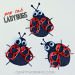 Soda Pop Tab Ladybug Craft