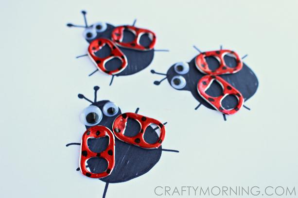 soda pop tab ladybug craft