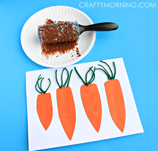 carrot-bubble-wrap-patch-craft-for-kids