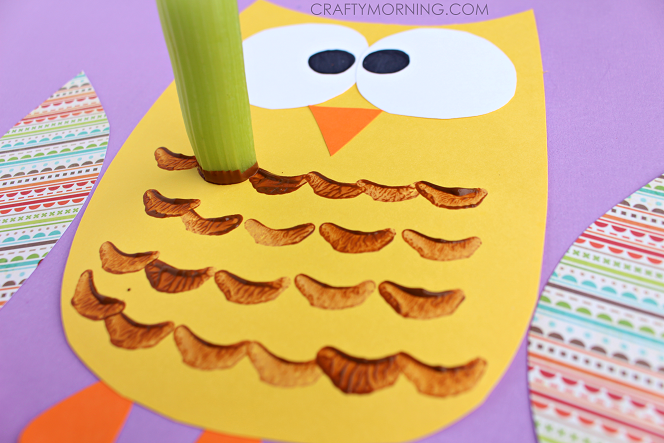 celery-stamp-owl-kids-craft