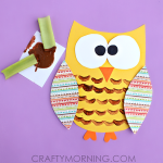 Celery Stamped Owl Craft for Kids