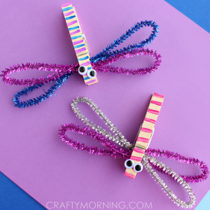 How to Make Clothespin Dragonflies (Kids Craft)