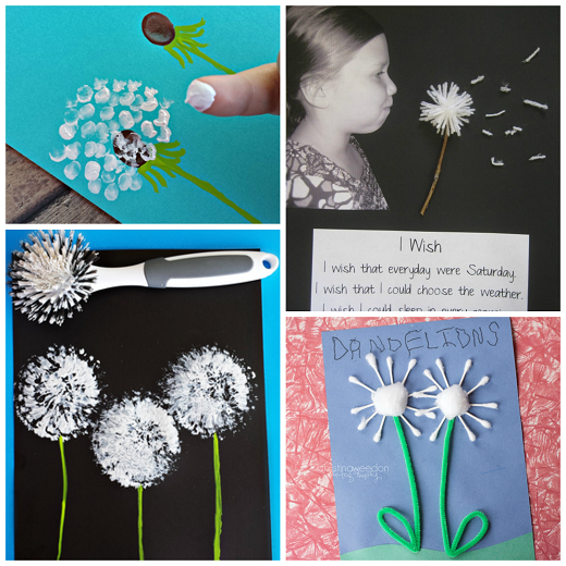 pretty dandelion art craft ideas