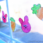 Bunny & Carrot Watercolor Easter Garland
