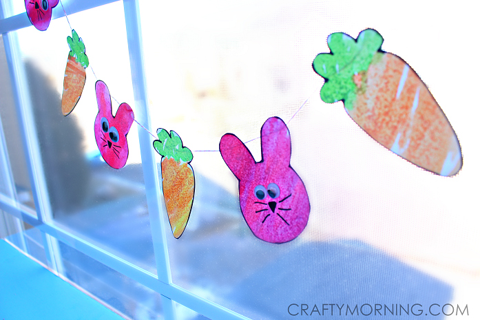 easter-bunny-carrot-watercolor-garland-craft-for-kids