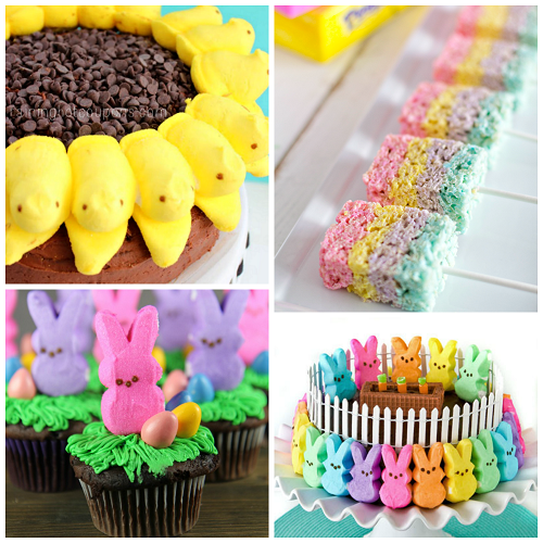Fun Easter Treats Made with Marshmallow Peeps - Crafty Morning