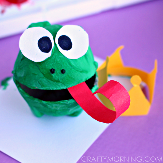 Egg carton frog prince craft for kids crafty morning for Frog crafts for preschoolers