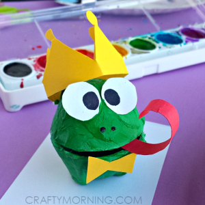 Egg Carton Frog Prince Craft for Kids