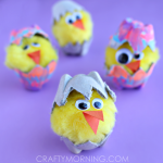 Egg Carton Hatching Chicks (Kids Craft)