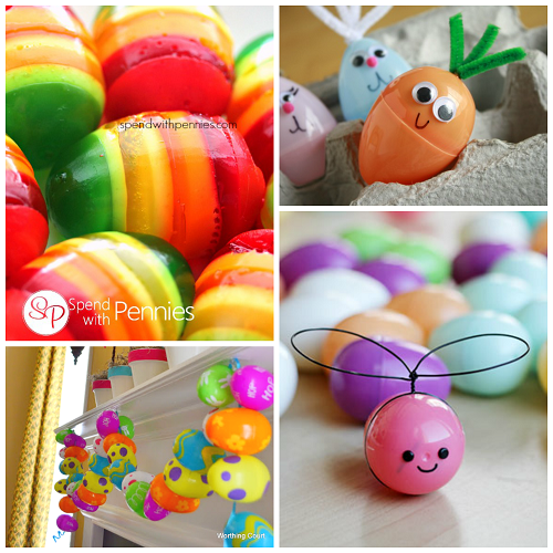Creative things to make out of plastic easter eggs for Cool things to make and do