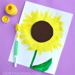 Make a Sunflower Craft using a Toothbrush