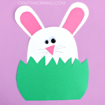 Paper Bunny Hiding in the Grass Craft
