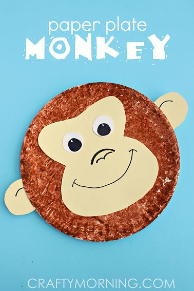 Paper Plate Monkey Kids Craft Idea - Crafty Morning