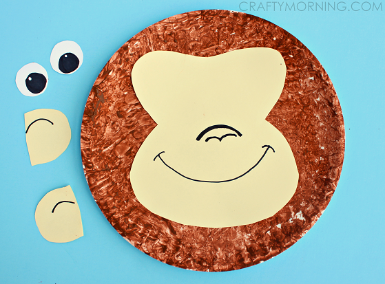 paper-plate-monkey-kids-craft-idea