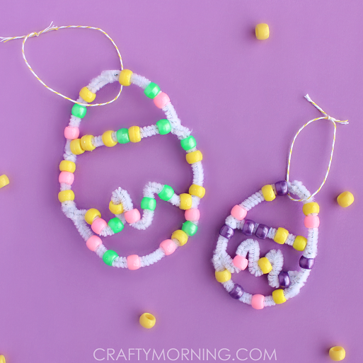 Pipe Cleaner Bead Easter Egg Craft Crafty Morning
