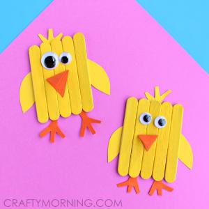 Mini Popsicle Stick Chicks (Kids Craft)