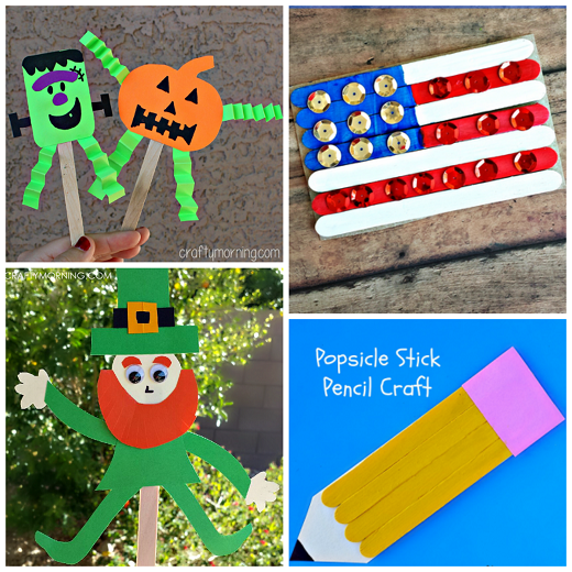 Kids Crafts with Popsicle Sticks