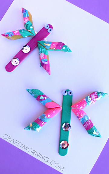 dragonfly craft ideas easy noodle dragonfly craft for crafty morning 1898