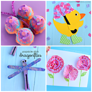 Beautiful Spring Crafts for Kids to Create