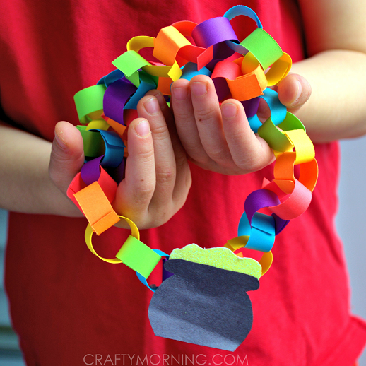 Rainbow Pot Of Gold Chain Necklace Craft Crafty Morning