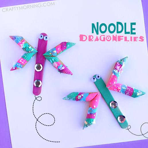 spring-noodle-dragonfly-craft-for-kids