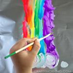 Painting on Aluminum Foil (Kids Art Activity)