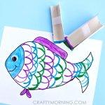 Make Fish Scales Using Toilet Paper Rolls