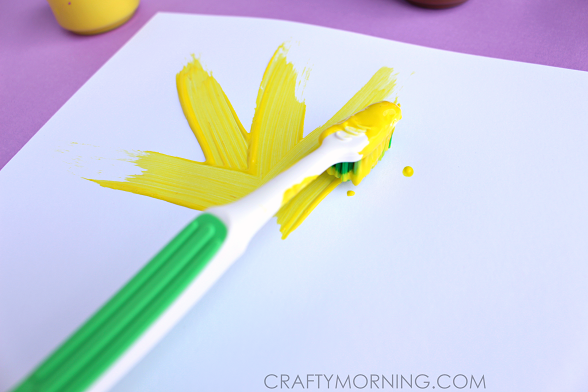 toothbrush-sunflower-kids-craft
