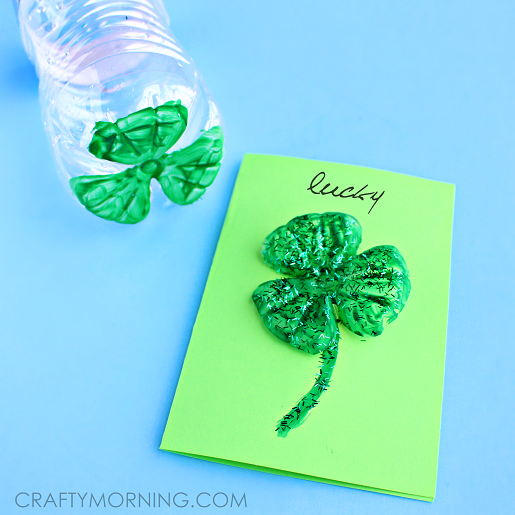 water-bottle-clover-st-patricks-day-card-craft-