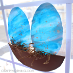 Speckled Watercolor Blue Robins Egg Suncatchers
