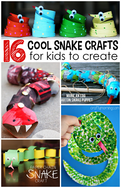 The coolest snake crafts for kids to create crafty morning for Awesome crafts for kids