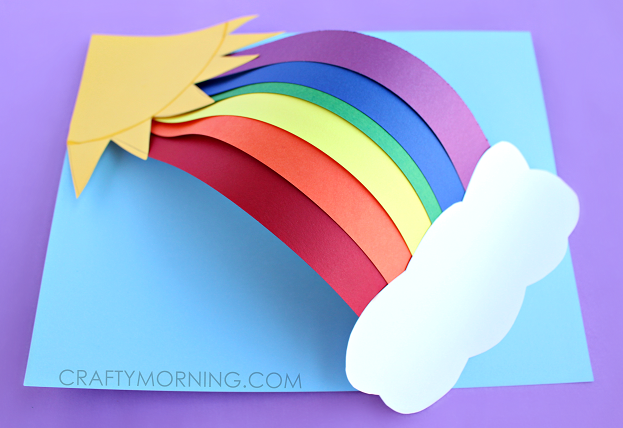 3d Paper Rainbow Kids Craft Crafty Morning