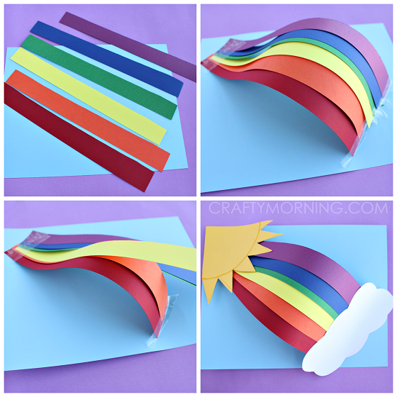 3d Craft Ideas For Kids Part - 41: 3d-over-the-rainbow-craft-for-kids