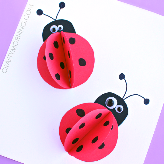 http://www.craftymorning.com/3d-paper-ladybug-craft-for-kids