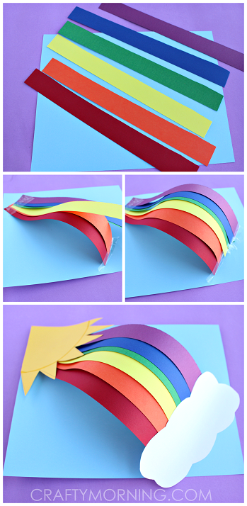 3d Rainbow Paper Craft For Kids
