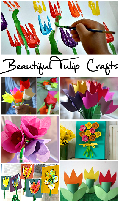 Beautiful Tulip Crafts For Kids To Make