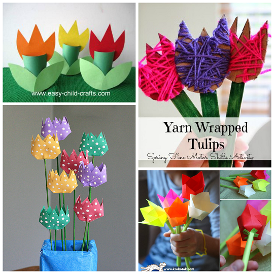 Beautiful tulip crafts that kids can make crafty morning for How to make easy crafts step by step