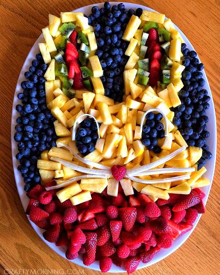 Creative Bunny Rabbit Fruit Platter