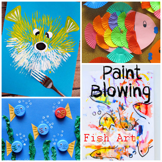 Puffer fish craft for Fish for kids