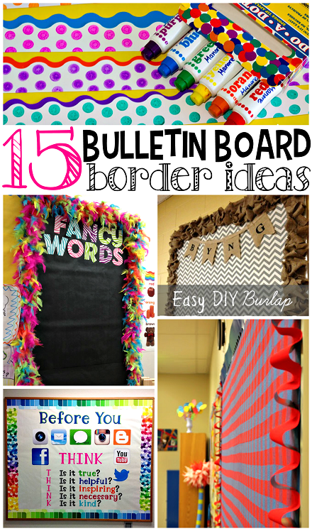 Classroom Border Ideas ~ Creative bulletin board borders for the classroom crafty