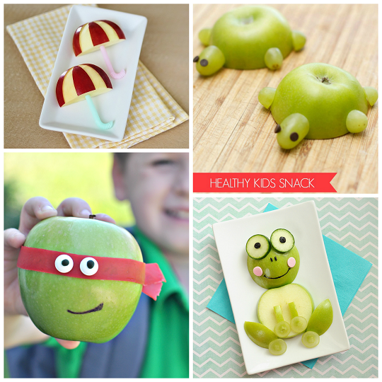 adorable apple snacks for kids to make eat