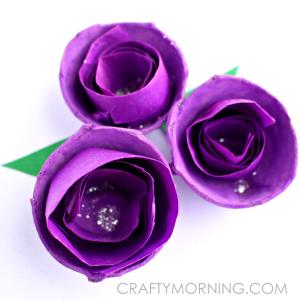 Tissue Paper Swirled Egg Carton Flowers